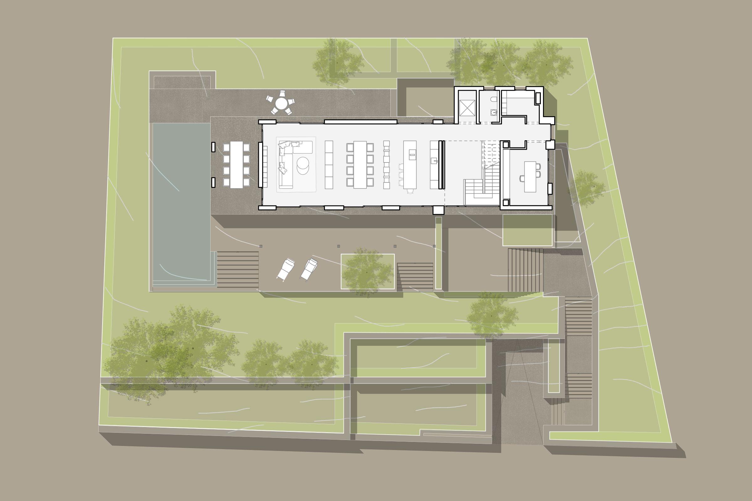 Grundriss EG - Luxus-Immobilie in Port d'Andratx auf Mallorca kaufen