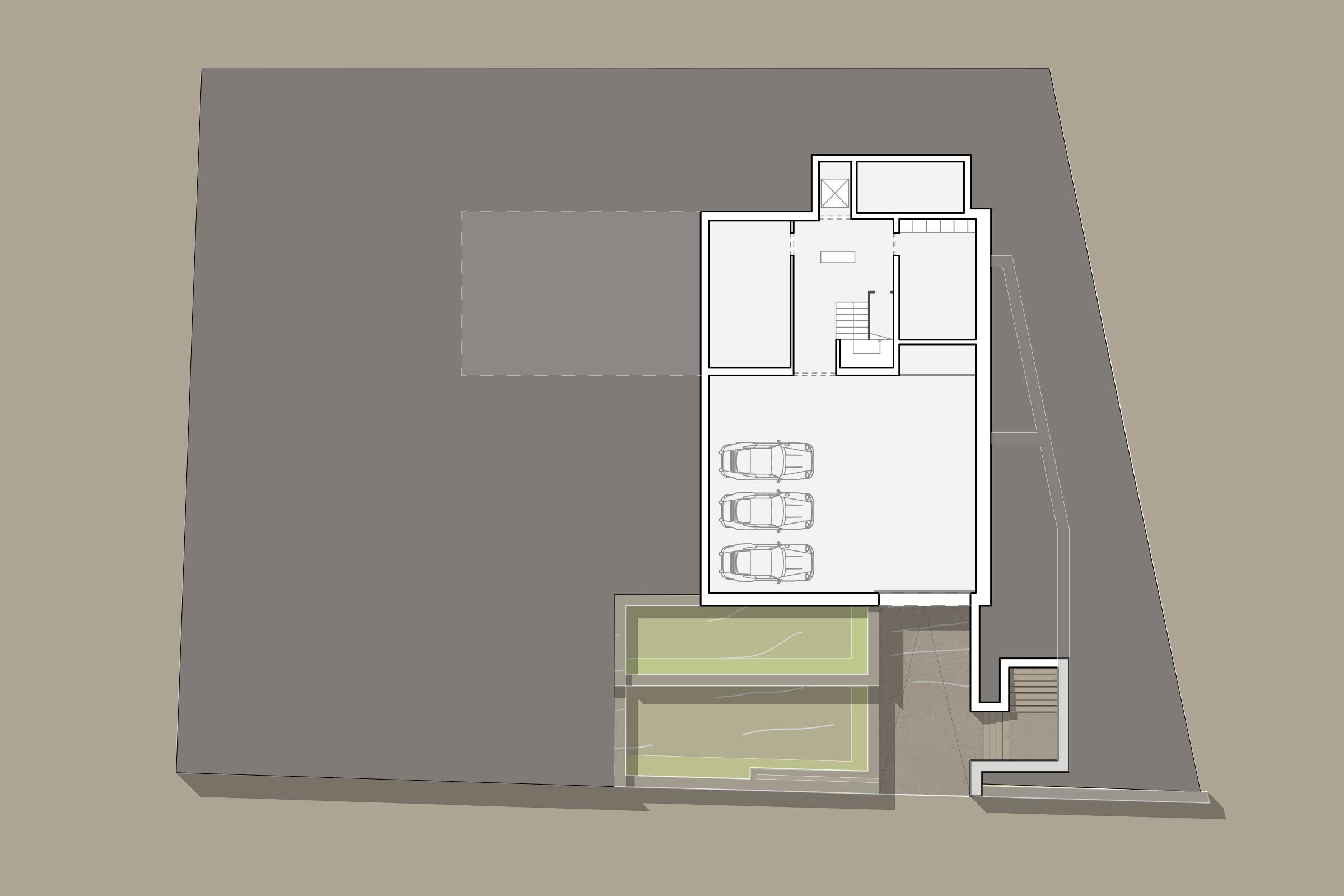 Grundriss Garage - Luxus-Immobilie in Port d'Andratx auf Mallorca kaufen